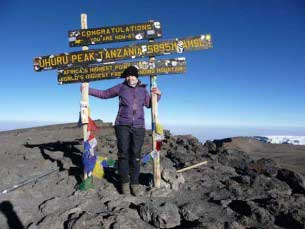 Sarah Hummerstone at Uhuru Peak