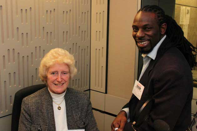 Baroness Butler-Sloss and Ash Abili at BBC